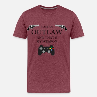 Outlaw Outlaw Gaming - Premium-T-shirt herr