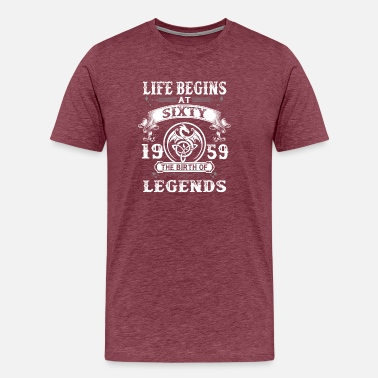 Made Sixties Life Begins At Sixty 1959 - Men's Premium T-Shirt