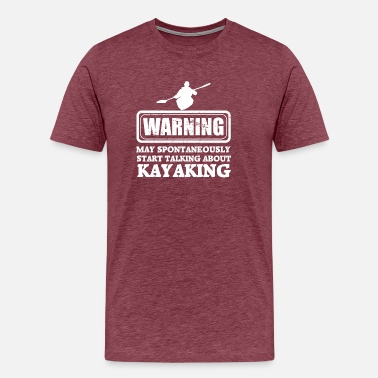 Rower warning kayaking - Men's Premium T-Shirt