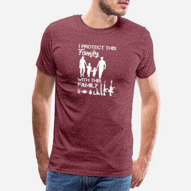 Amendement Guns Protect Family Saying Quote design for gun - T-shirt premium Homme