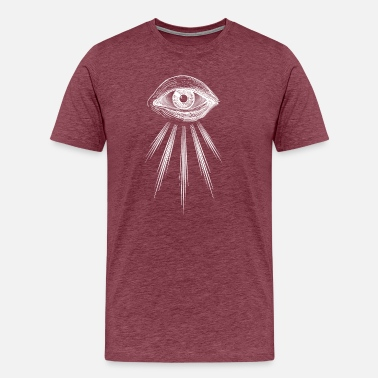 Pupil Eye The seeing eye - Var. III knows - Men's Premium T-Shirt