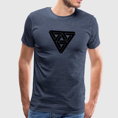 Optical illusion Triangle Minimal Shape - Mannen Premium T-shirt