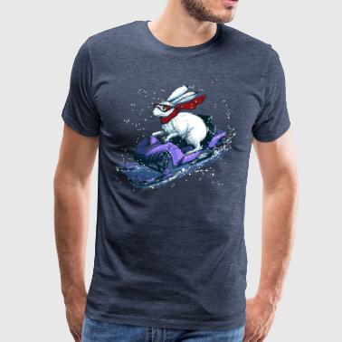 Hare Snowmobile - Men's Premium T-Shirt