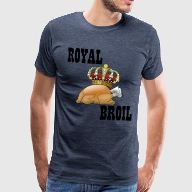 Royal broiler chicken hen gift fast food - Men's Premium T-Shirt