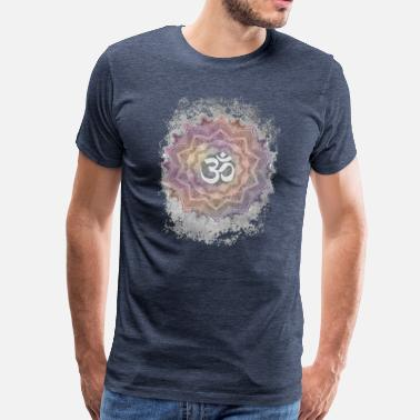 Aum Colorful Mandala Aum - Men's Premium T-Shirt