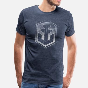 World Of Warships Logo Anker Grafisch - Männer Premium T-Shirt