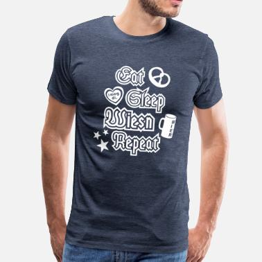 Eat Sleep Repeat Eat Sleep Wiesn Repeat - Männer Premium T-Shirt