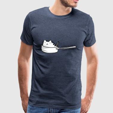 Boredom Cat in pan - hungry - Men's Premium T-Shirt