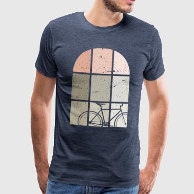 Bicycling fixie bike at the window - Men's Premium T-Shirt