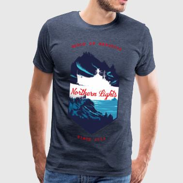 World Of Warships Northern Lights North - Mannen Premium T-shirt