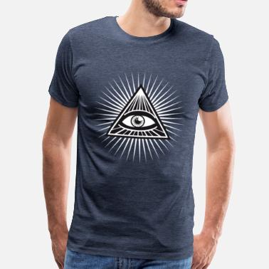 illuminati seeing eye lit fun cool love - Men's Premium T-Shirt