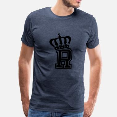 R Crown Letter R - Men's Premium T-Shirt
