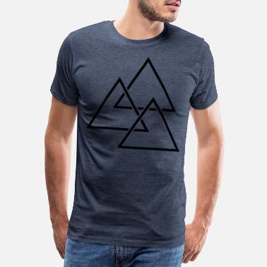 Structural Formula Triangles intermittently - Men's Premium T-Shirt