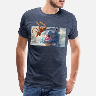 Escena de lucha Might & Magic - Camiseta premium hombre