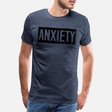 Aversion Ångest Disorder Angst Grunge Typografi - Premium T-shirt herr