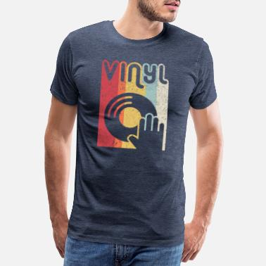 Song Vinyl Record Product. Retro Style Print - Men's Premium T-Shirt