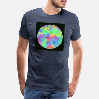 Catastrophe Colorful circle with background - Men's Premium T-Shirt