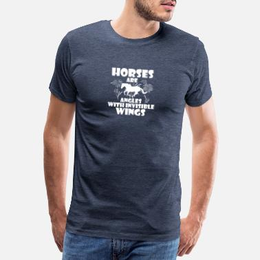 Ponytail Horses are angels with invisible wings - Men's Premium T-Shirt