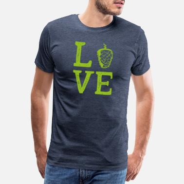 Kölsch Love Gift Brewer Hops Malt BeerGlass - Men's Premium T-Shirt