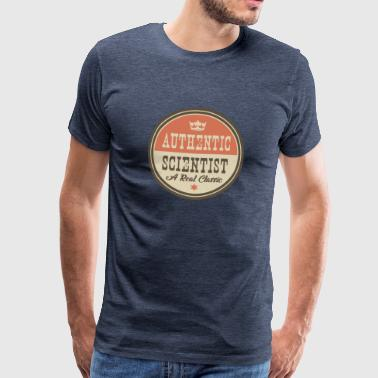 AUTHENTIC SCIENTIST - RESEARCHER - Men's Premium T-Shirt