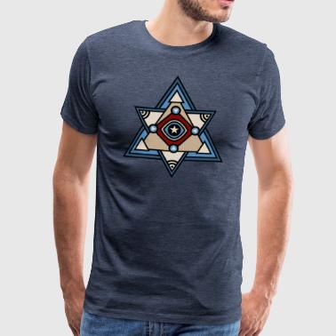Geometric eye, triangle, all seeing eye, pyramid - Men's Premium T-Shirt