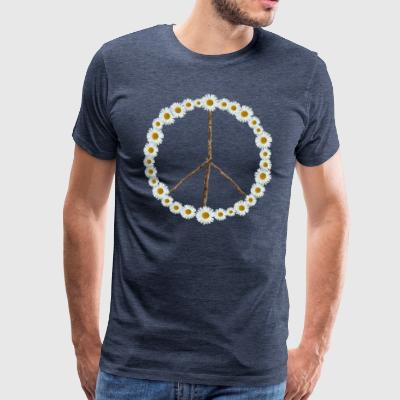 Peace sign made of flowers - Men's Premium T-Shirt