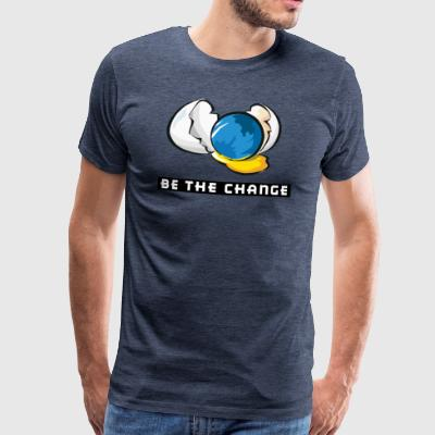 Earth Day Be The Change - Men's Premium T-Shirt
