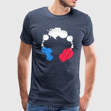 Headphone France - Männer Premium T-Shirt