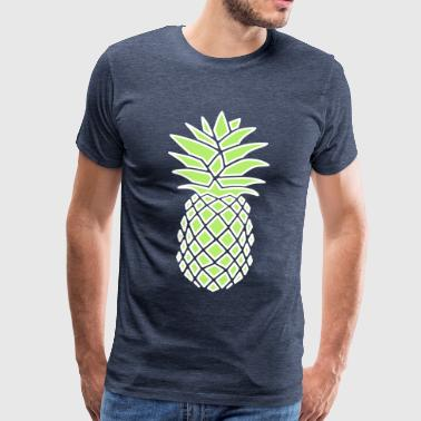 PINEAPPLE GEOMETRIC - Herre premium T-shirt