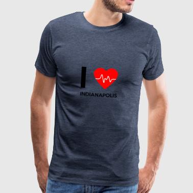 I Love Indianapolis - I Love Indianapolis - Premium T-skjorte for menn