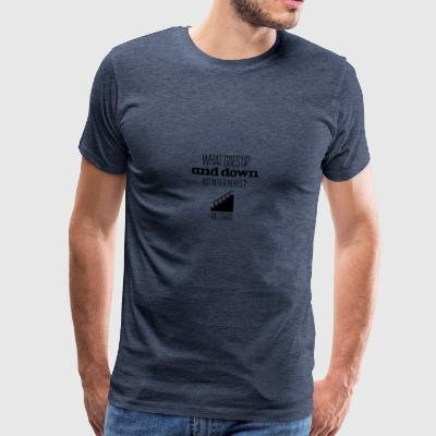 What goes up and down but never moves - Men's Premium T-Shirt
