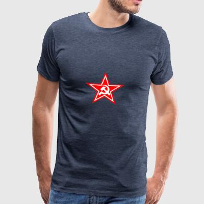 Communist red star flag - Men's Premium T-Shirt