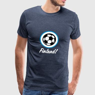 Finland Football Emblem - Men's Premium T-Shirt
