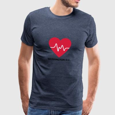Coeur Washington DC - T-shirt Premium Homme
