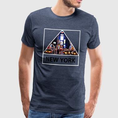 Triangle sur New York - T-shirt Premium Homme
