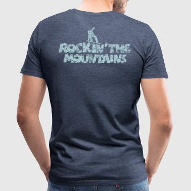 Rockin The Mountains Snowboard Boarder - Männer Premium T-Shirt
