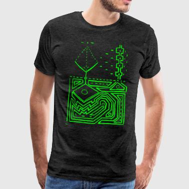 Ayahuasca PowerLines 1 - Men's Premium T-Shirt