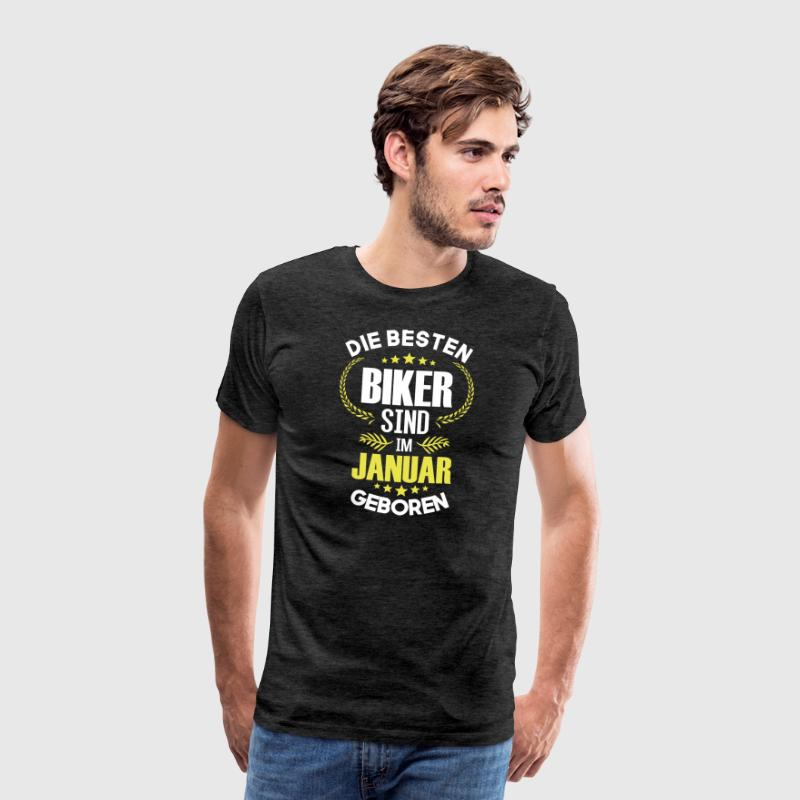 The best bikers are born in January - Men's Premium T-Shirt