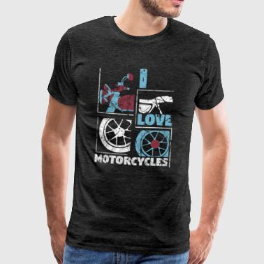 Fool Motorcycle Motor Two Wheel Gift Idea - Men's Premium T-Shirt