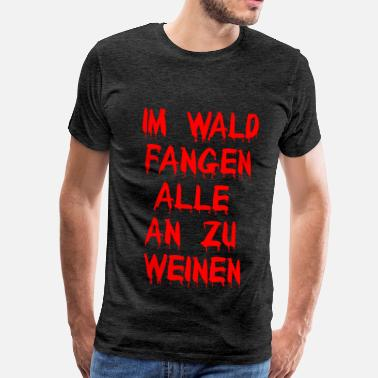 Wrede Wreed bos - Mannen Premium T-shirt