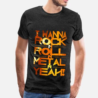 Orange i wanna rock-orange - Männer Premium T-Shirt