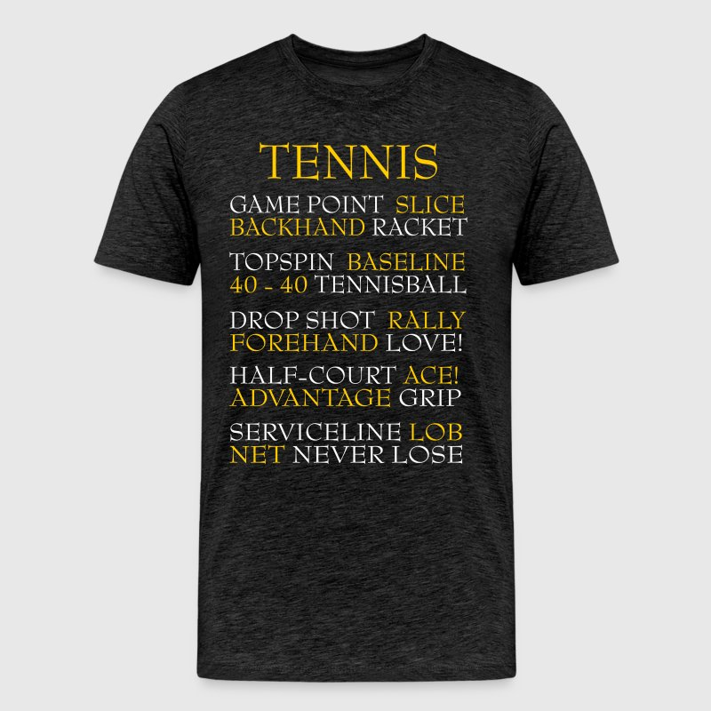 Tennis words - Men's Premium T-Shirt