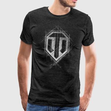 World of Tanks WoT Logo - Herre premium T-shirt