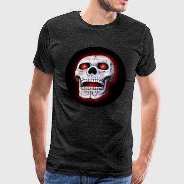 Skull with glowing eye bals - Men's Premium T-Shirt