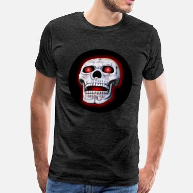 Glowing Eyes Skull with glowing eye bals - Men's Premium T-Shirt