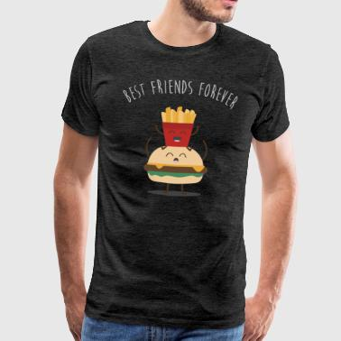 best friends burger pommes - Männer Premium T-Shirt