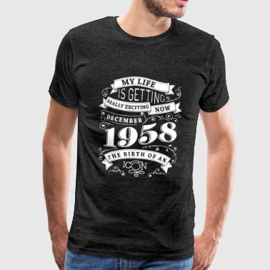 Vintage 1958 December 1958 The birth of an icon - Men's Premium T-Shirt