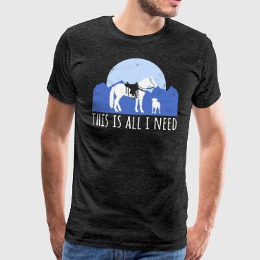 Dog and horse - Western rider - Men's Premium T-Shirt