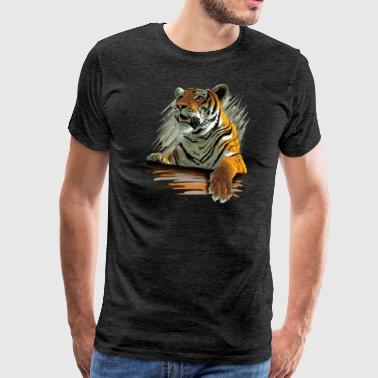 Raubtier Tiger - Men's Premium T-Shirt