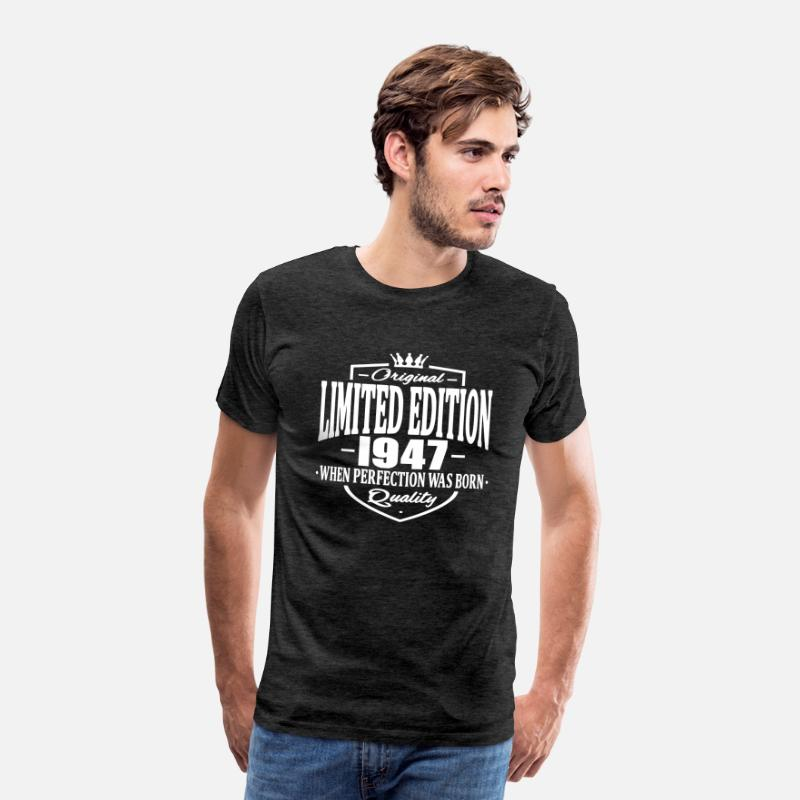 Established T-Shirts - Limited edition 1947 - Mannen premium T-shirt houtskool